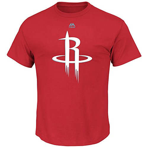 NBA Houston Rockets Men's Logo II Short Sleeve Basic Tee, X-Large, Athletic Red