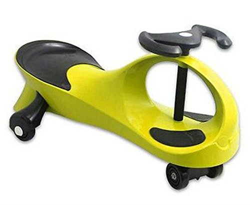 Yellow Twistcar Roller Twist Car Kids Ride On Wiggle Outdoor Play Swing Vehicle from Unbranded