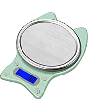 Erato Digital Kitchen Scale, Small Food Scale 1kg/0.01g, High Precision, 6 Units, Tare Function, LCD Display, Cooking Weight Scale for Food Coffee Baking