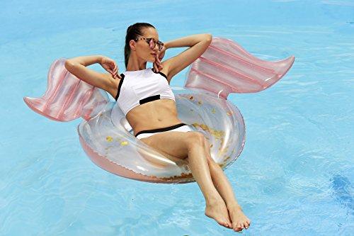 Franklin Sports Pool Float - Angel Wings Pool Tube - Inflatable Pool Tube - Adult Pool Raft - 40