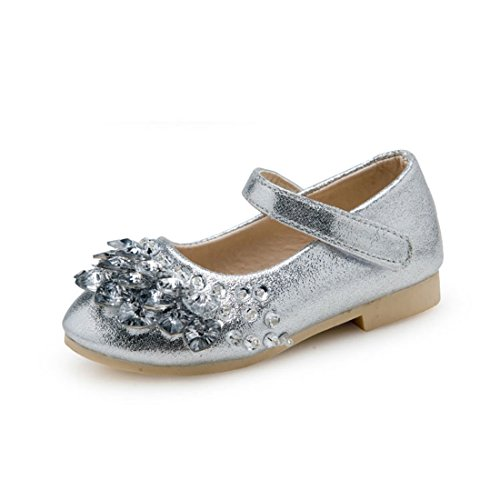 O&N Kids Ballet Flats Beaded Girls School Shoes Mary Jane Wedding Party Princess Dress Shoes by ON