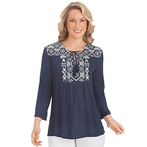 Womens Embroidered Tunic Machine Washable