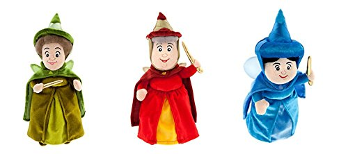 Disney Sofia The First & Sleeping Beauty Fairy Godmothers Set of 3 - Flora, Fauna and Merryweather - 11 inches Tall ()