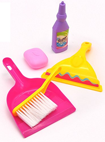 Little Helper - a Cleaning kit for Kids of Age 3 Years + Pretend Play Toy Contains Cleaning Detergent, a Duster, dust Pans and a soap bar, get on with Cleaning, Like mom and dad!
