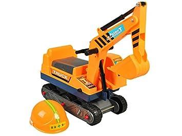 ISO TRADE Excavadora de Juguete giratoria Sobre orugas - Asiento + Casco de Seguridad 2897: Amazon.es: Juguetes y juegos