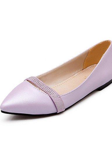 PDX/ Damenschuhe - Ballerinas - Büro / Kleid / Lässig / Party & Festivität - Lackleder - Flacher Absatz - Spitzschuh -Schwarz / Rosa / Lila / purple-us4-4.5 / eu34 / uk2-2.5 / cn33