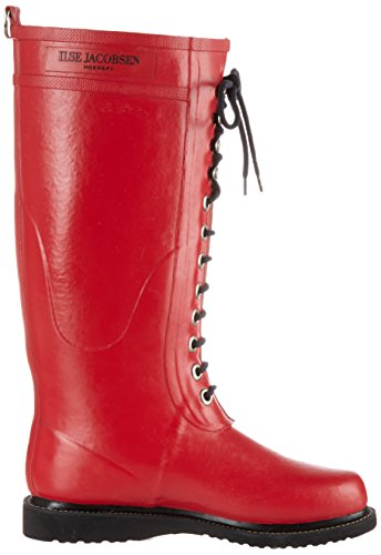 Boots Gummistiefel Deep Damen RUB1 Ilse Long Red Red hoch Jacobsen Women's AP0wnxnq1f