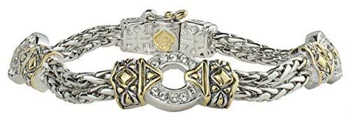(John Medeiros Dazzling Antiqua Collection Three Circle Pavè Set Cubic Zirconia Bracelet)