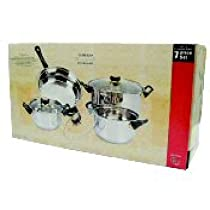 7 Piece Cookware Set With Glass Lids Case Pack 4 Home Kitchen Furniture Decor