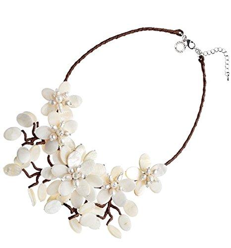 cerca il meglio varietà di design vendita di liquidazione Collana Ottaviani 48424 con fiori in madreperla: Amazon.it ...