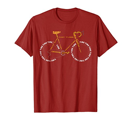 Tee Bicycle - Bicycle Anatomy Shirt | Cute Cycling Is Life T-Shirt Gift