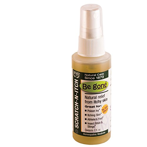 Be gone™ Scratch-N-Itch Spray, 2 Fluid Ounces. Natural relief from the itching and blistering of poison ivy & oak. Also helpful for athlete's foot as well as bites and stings from insects. (Ivy Remedies Homeopathic Poison)
