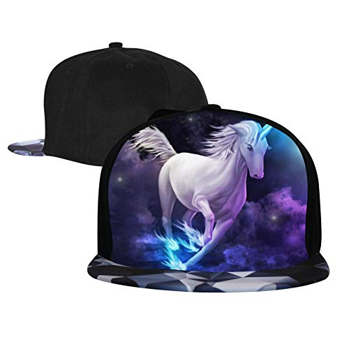 Phoenix Powell88 Unicorn and Moon 3D Printed Adjustable Baseball Cap,Unisex Hip Hop Snapback Flatbrim Hats