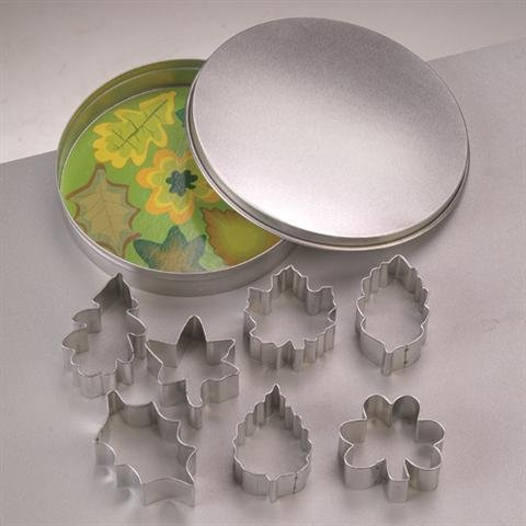 efco Lasciare formine per Biscotti, Metallo, Argento, 12cm/4.5–6cm, Confezione da 8 12cm/4.5-6cm 3537022