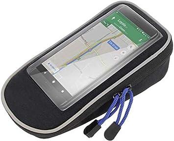 Patabit - Funda para teléfono de bicicleta con soporte para teléfono móvil de bicicleta o moto de 5,5 pulgadas o inferior para bicicleta con soporte para smartphone y portadocumentos: Amazon.es: Deportes y