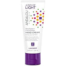 Andalou Naturals Lavender Hand Cream, 3.4 oz., Lavender Essential Oil, Shea Butter, and Cocoa Butter to Help Soothe, Soften, and Smooth Dry Hands
