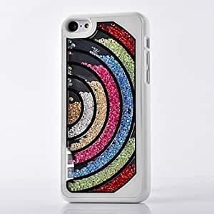 Trendy Crystals Filled Heart Designed Hard Case for iPhone 6 (Assorted Colors)