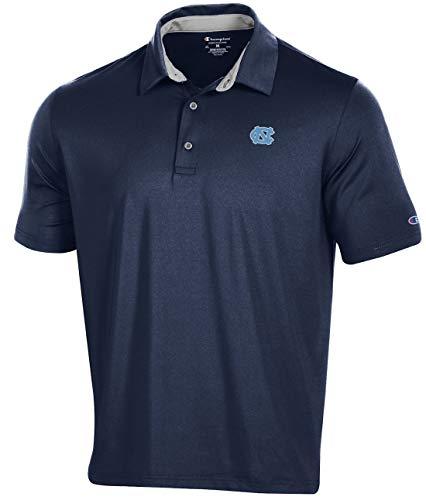 Champion NCAA Men's Blitz Polyester Polo Shirt (X-Large, UNC Tar Heels)