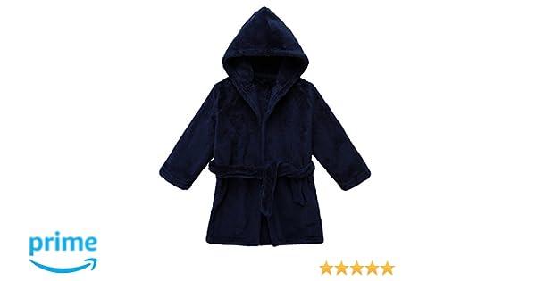 LOSORN ZPY Toddler Unisex Baby Robe Hooded Fleece Bathrobe Towel Kids 9-36 Month
