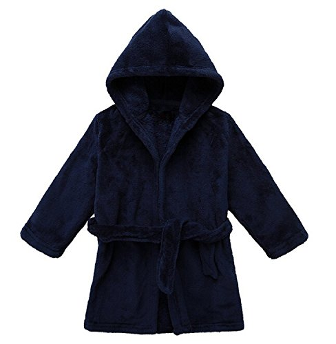 Toddler Unisex Baby Robe Hooded Fleece Bathrobe and Towel for Kids 9-36 Month by LOSORN ZPY