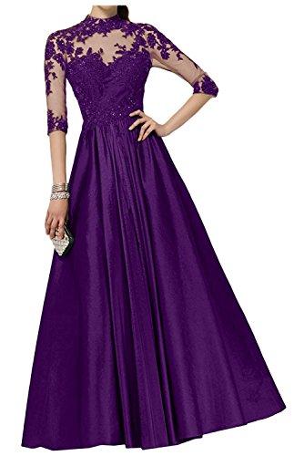 Braut mit Brautmutterkleider A mia Ballkleider Partykleider Lila Regency Linie Lang Langarm La Abendkleider Spitze R8wTnq5wv