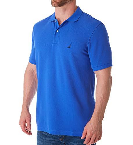 Nautica Pique Cotton Short Sleeve Deck Polo (K51701) M/Colbalt Wave