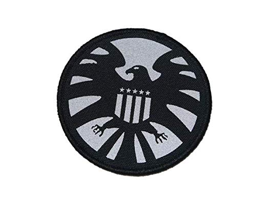 Agents of Shield Avengers Marvel Eagle Military Patch Fabric Embroidered Badges Patch Tactical Stickers for Clothes with Hook & Loop (Cap Military Shield)