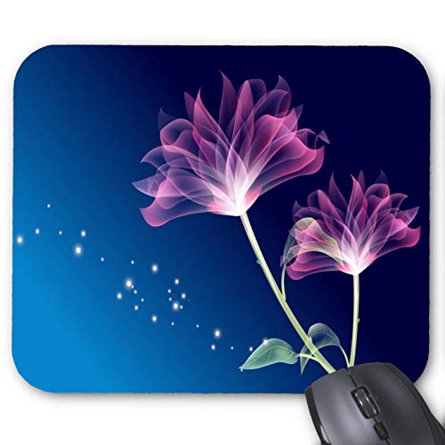 (Animated Flowers Wallpaper Picture Mouse Pad 11.8 X 9.8 in)