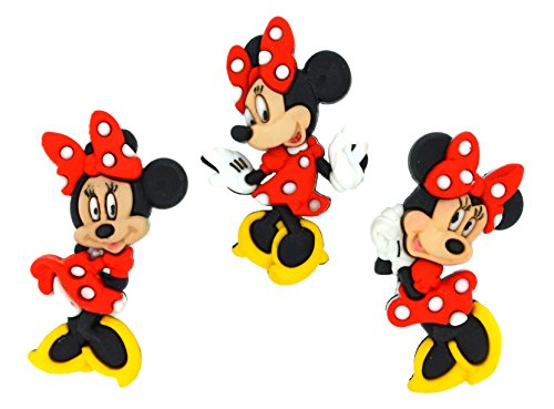 Jesse James Buttons (Dress It Up 7717 Disney Button Embellishments, Minnie Mouse)
