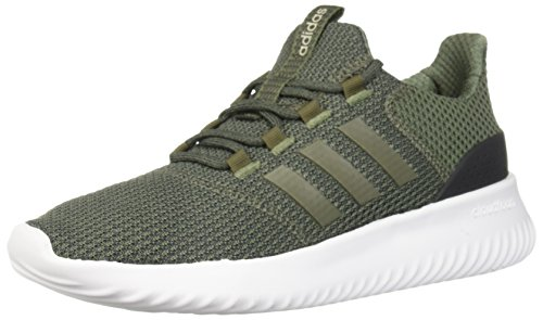 (adidas Men's Cloudfoam Ultimate Running Shoe Base Green/Base Green/Carbon, 11 M US )
