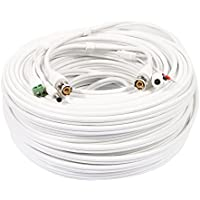 uxcell 50M BNC DC Video Power RS485 Control Cable Wire for CCTV Security HD Camera