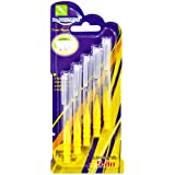 5-piece tooth brush, coat coating (Straight handle, cylindrical hair) by Best friend shop.