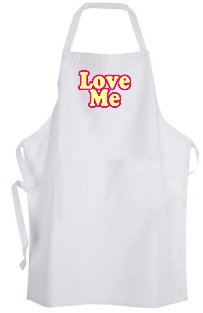 Love Me – Adult Size Apron - Quote Saying Dating Relationship Wedding