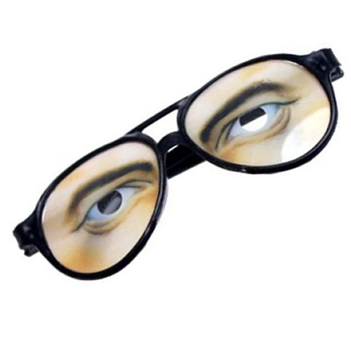 Men's New Funny Jokes Glasses With Eyebrow Trick Toys Party Props for next year Halloween and April Fool's (Halloween Party Games For Older Kids)