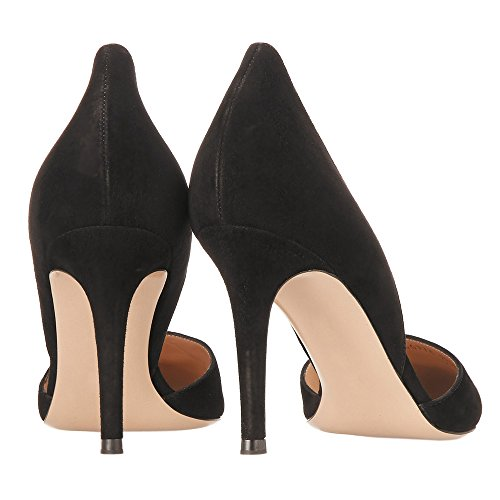 a49b6803751afe Guoar Women s Stiletto Heel Sandals Big Size Shoes Pointed Toe  D Orsay Two-Piece Pumps