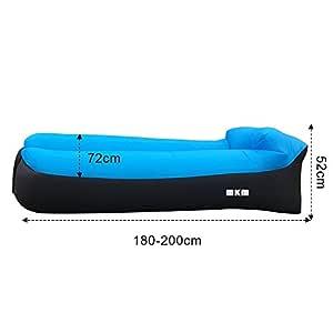 Hamaca hinchable MKM con almohada integrado tipo Longue ...