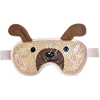 Eye Cooling Mask Gel Bead Eye Mask Reusable Cute Eye Mask with Soft Plush for Puffy Eyes, Swollen Eyes for Women and Men - Shapei