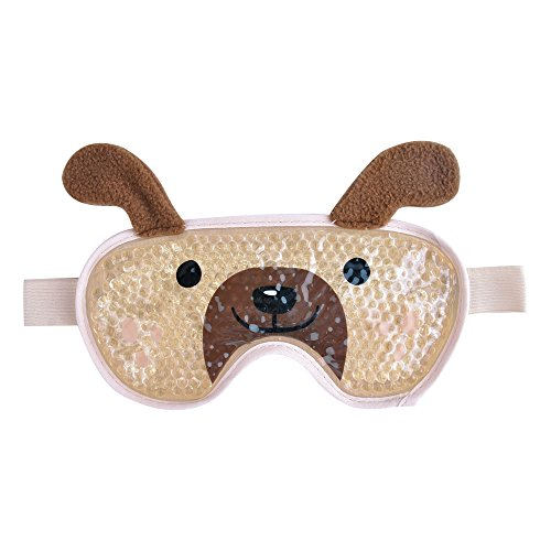 Eye Cooling Mask Gel Bead Eye Mask Cute Freeze Eye Mask with Soft Plush Backing for Effective Relief from Swollen Eyes, Sinus Pressure, Relaxing - Shapei