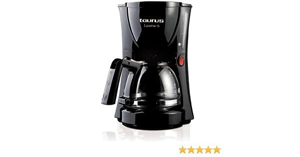 Taurus Livorno 6, Negro, 550 W, 230 V, 50 Hz, 223 x 176 x 267 mm - Máquina de café: Amazon.es: Hogar