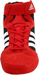 adidas Men\'s Pretereo.2 Wrestling Shoe,Collegiate Red/White/Black,12 D US