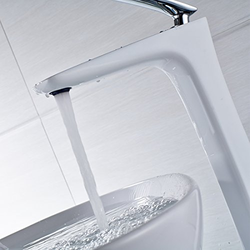 Fapully Robinet Salle de Bain Mitigeur Lavabo Blanc low cost