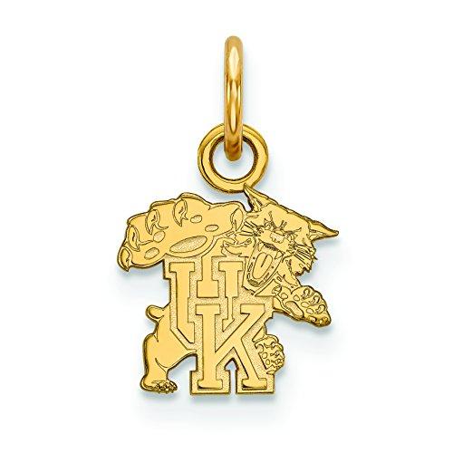 Sterling Silver w/GP LogoArt University of Kentucky XS Pendant