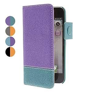 CL - Doble-colores cuero de la PU caso de cuerpo completo para el iphone 5/5s (colores surtidos) , Gris