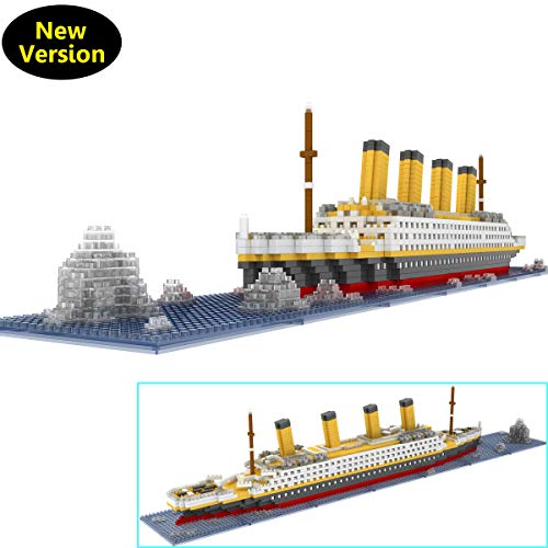 OneNext Titanic Model Building Block Set 1900pcs - Nano Mini Blocks DIY Toys(with Origin Package Box and Useful Tool) (Old Man And The Sea Boat Name)