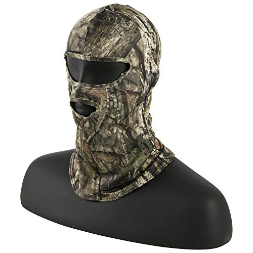 (Stretch Fit Full Head Net, Spandex with 2 Holes - Mossy Oak Country)