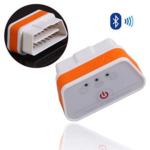 iKKEGOL iCar 2 Mini OBD2 II Bluetooth Car Diagnostic Scanner Torque Android(White+Orange)