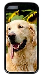 Diy iphone 5 5s case Happily Retriever Puppies DIY Rubber Black Best DesignedIphone 5 5S