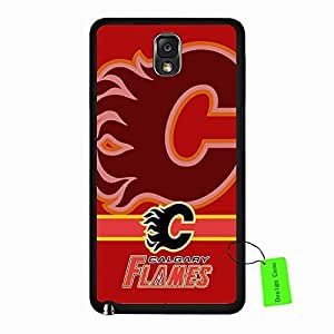 Samsung Galaxy Note 3 Case Cheap NHL Calgary Flames Hockey Team Logo Sports Design Slim Hard Black Protective Shell Accessories Case Cover for Men