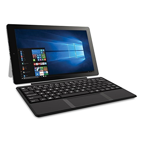 2018 RCA Cambio 2-in-1 10.1″ Touchscreen Laptop Tablet PC with Intel Atom Z8350 Processor, 32GB SSD, 2GB RAM, Kickstand, Keyboard, WIFI, Bluetooth, Microsoft Office Mobile Apps, Windows 10