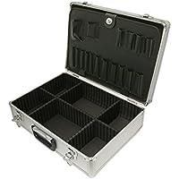 SRA Cases EN-AC-FG-A022 Silver Aluminum hard case, 18.1 x 13 x 6 Inches, Divides
